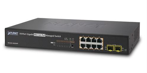 Planet WGSD-10020HP - Switch 8xGE PoE + 2xSFP - Przełączniki sieciowe